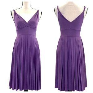 Joyce Leslie Lavender Pleated Sleeveless Dress M